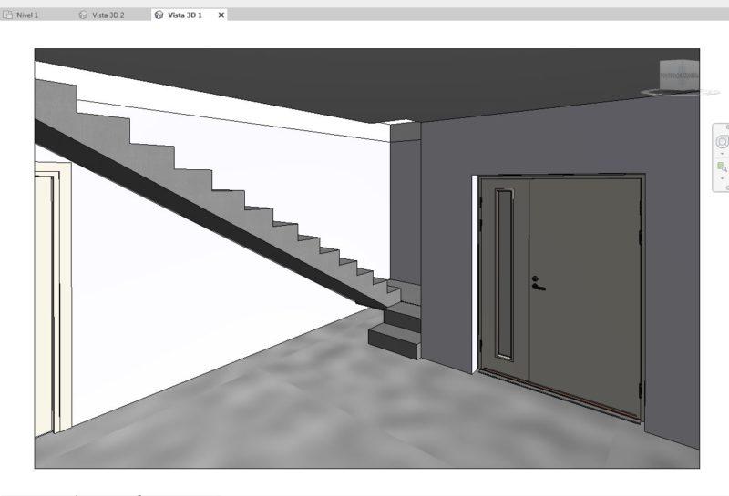diseño-3d-revit-entrada-escalera-vivienda-previo