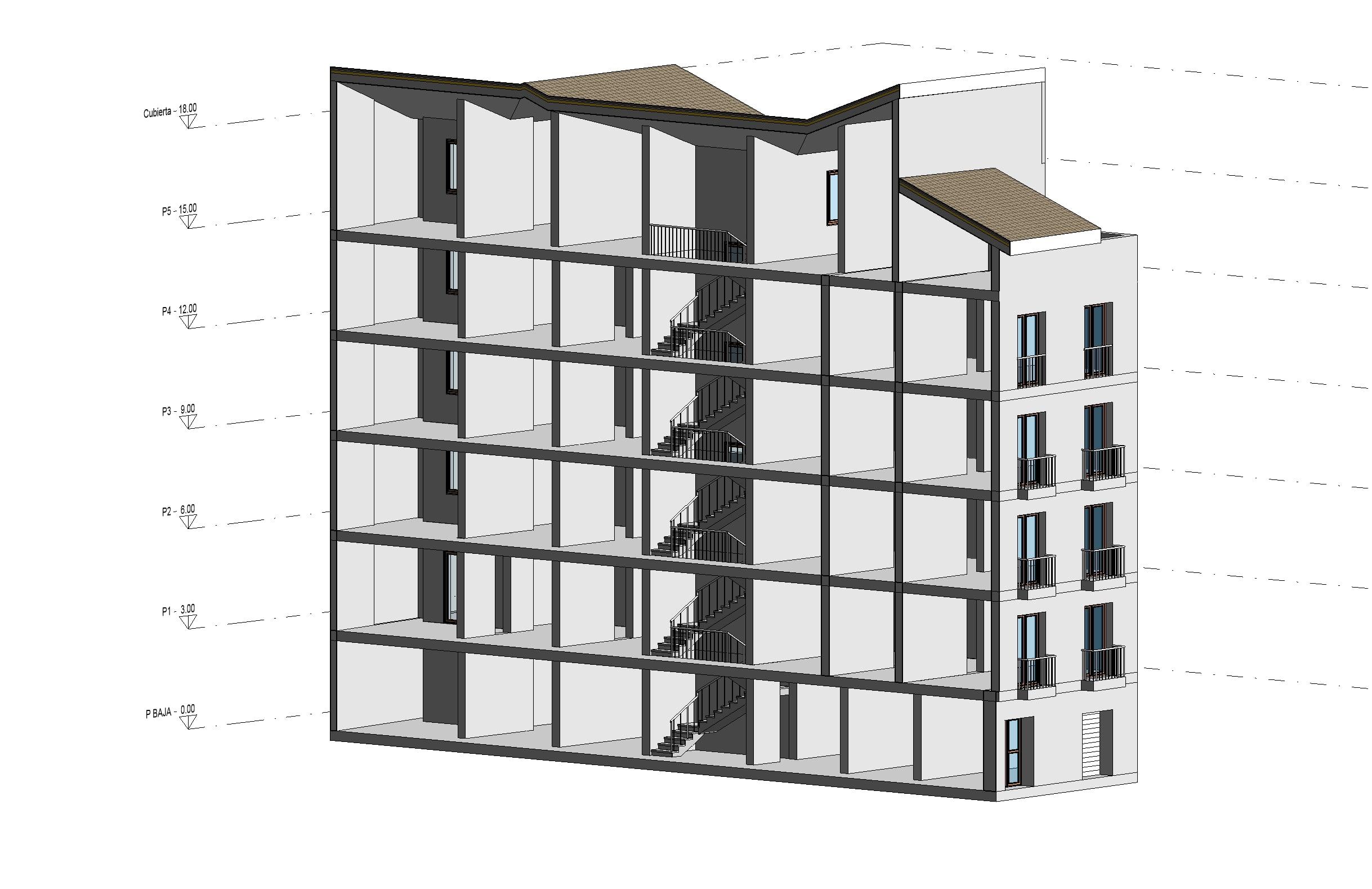 vista3d-revit-edificio-viviendas-rehabilitacion