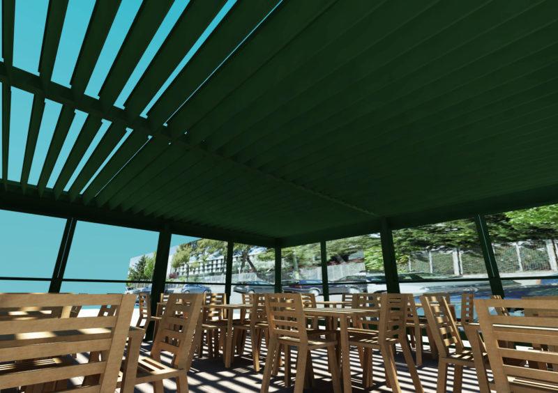 Opcion2: Diseño 3D de vista interior Terraza Embassy