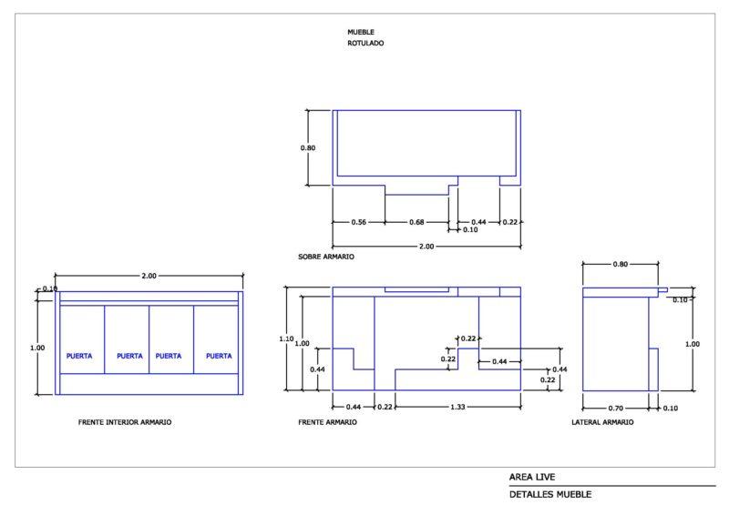 plano de despiece stand area live