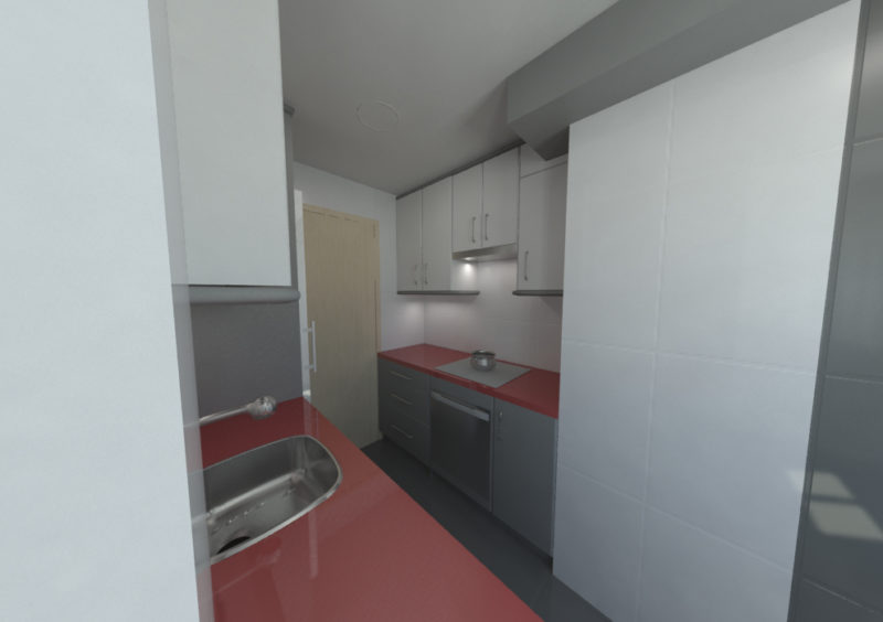 modelado 3d diseño de cocina mobiliario y espacio