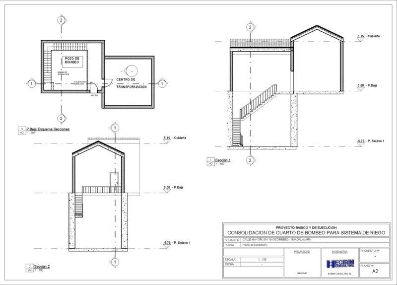 planos-secciones-pozo-bombeo-revit-arquitectura