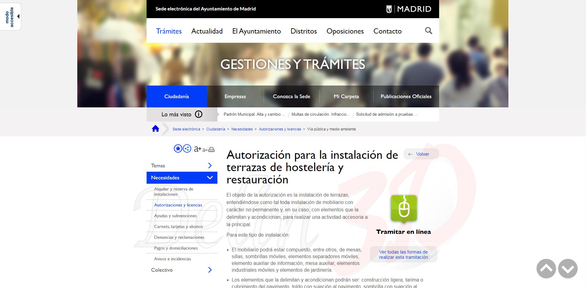 Informacion Para Licencia Terraza De Restaurante O Cafeteria
