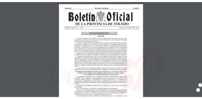 tramitacion-licencia-terrazas-ayuntamiento-toledo-ordenanza-delin3d