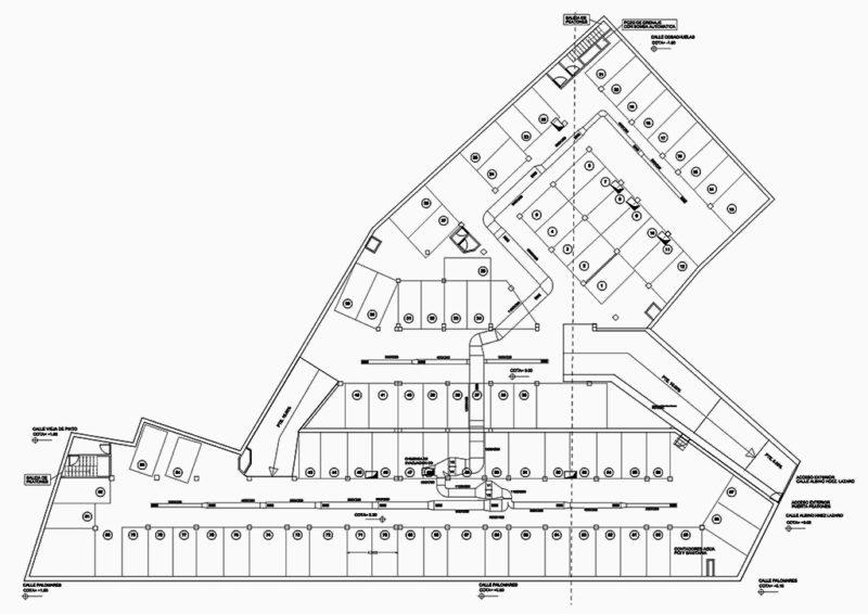 plano intalaciones garaje en autocad