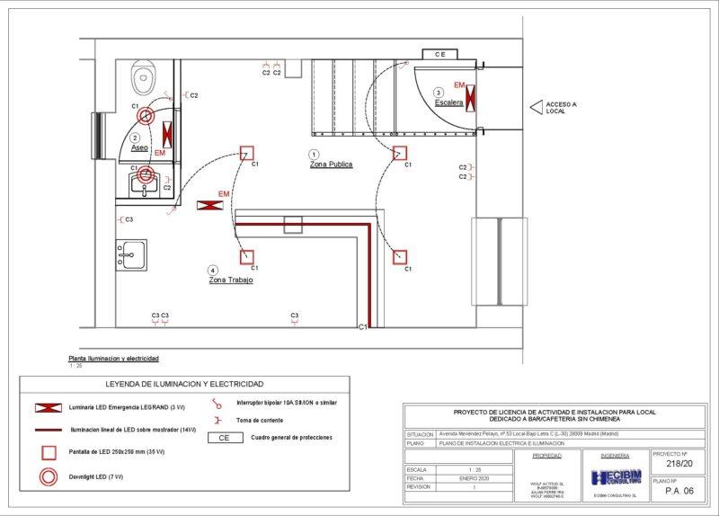 Planos-licencia-actividad-electricidad-revit