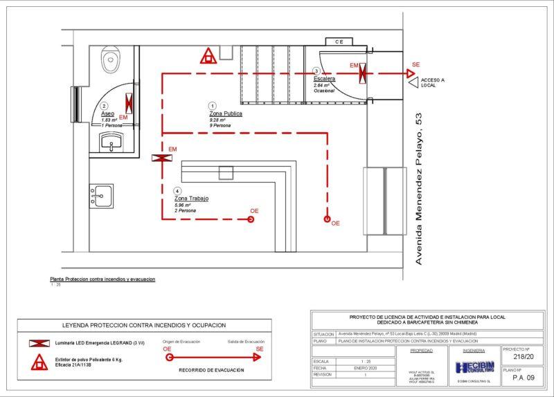 Planos-licencia-actividad-incendios-evacuacion-revit