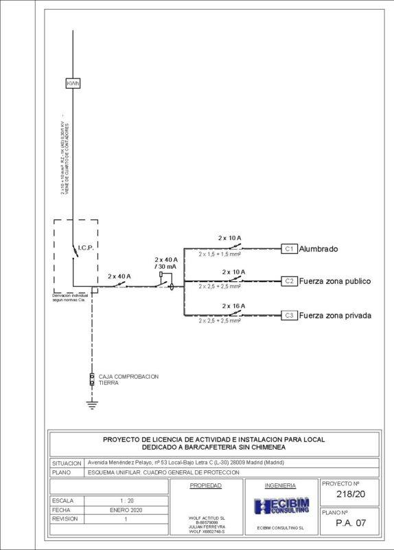 Planos-licencia-actividad-unifilar-revit