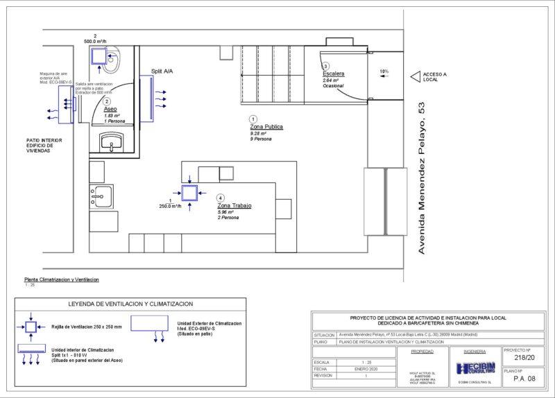 Planos-licencia-actividad-ventilacion-climatizacion-revit